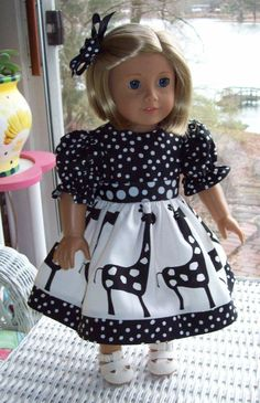 Fits American Girl doll or 18 inch doll. Doll by ASewSewShop