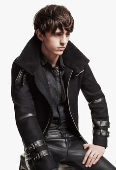 This model doesn't match the style but it's a very nice jacket I know I could pull off better.  The Kooples AW13