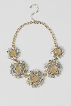 Broadway Statement Necklace in Ivory francesca's