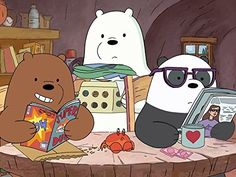 We Bare Bears - Created by Daniel Chong. With Demetri Martin, Eric Edelstein, Bobby Moynihan, Keith Ferguson. We Bare Bears Human, Ice Bear We Bare Bears, 3 Bears, Cute Bears, Foto Cartoon, Happy Cartoon, Bear Cartoon, Cartoon Pics, Bear Wallpaper