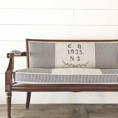 vintage settee reupholstered