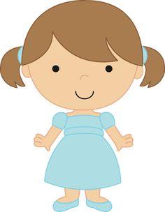 Dibujos. Clipart. Digi stamps - Children - Girl - Niña