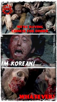 They're not eating Glenn, but this is still hilarious
