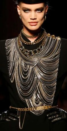 Gaultier 2013 Winter Love the chains.