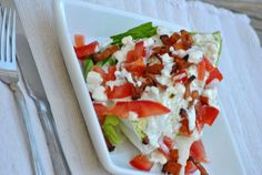 The Farm Girl Recipes: Wedge Salad with Homemade Bleu Cheese Dressing