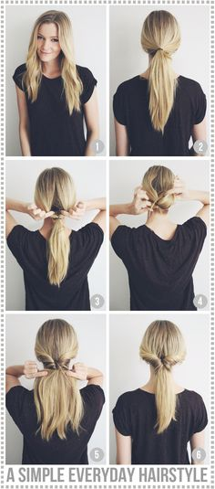 See more here: http://passionsforfashion.dk/2013/11/a-simple-everyday-hairstyle/