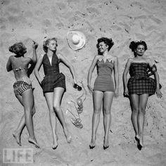 1950's beach fashion.