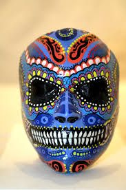 Image result for mexican skull sculpture
