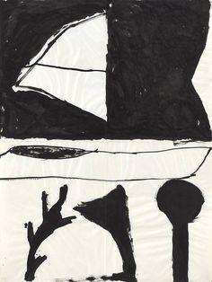 Hanns Schimansky, o. T. | 1987 | Tusche | Faltung | 100 x 75 cm, Kunstmuseum Ahrenshoop