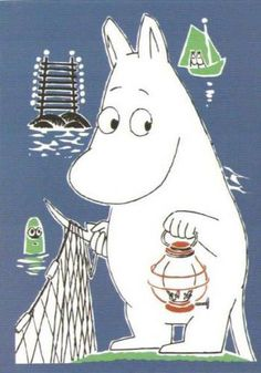 Moomin would like to visit Saimaa as well. Moomin for kids and adults alike !!!!
