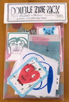 Double zine pack by Mildred & Pacolli.