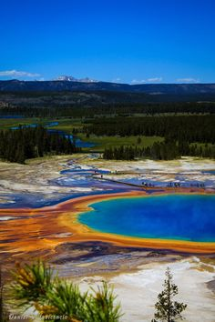 Grand Prismatic Spring in Yellowstone National Park, Wyoming United States