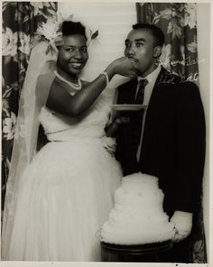 Wedding portrait of couple. Collection of the Smithsonian National Museum of African American History & Culture, Gift of Charles Schwartz and Shawn Wilson, 2012.137.9.3