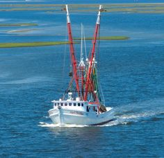 Jimmy's shrimp boat headed to the Pamlico Sound.