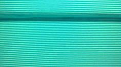 Stoff Streifen - Jersey Jerseystoff dünne Streifen mintgrün  - ein Designerstück von Stoffe-guenstig-kaufen bei DaWanda