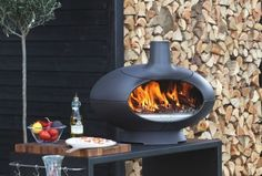 Morso Forno is the outdoor oven that creates a cozy atmosphere on your terrace and it lets you create crisp pizzas and perfect bread in just a few minutes Outdoor Oven, Outdoor Fire, Outdoor Rooms, Outdoor Dining, Outdoor Decor, Barbacoa, Tuscan Grill, Distressed Kitchen Cabinets, Modern Tools