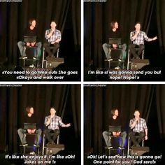 Jensen telling an adorable story about implementing the time out rule on JJ!! #DaddyJensen #NJCon 2015 via @ProudSPNer  on twitter || Jensen Ackles || Jared Padalecki || JJ Ackles
