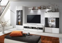 Dallas Biela arctic Čierna / Dallas Arctic White Black Dallas, Tv Cabinets, Arctic, Denver, Living Room, Design, Furniture, Home Decor, Black