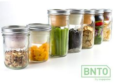 BNTO – Your Food Jar  If you think nothing could ace Cuppow, the revolutionary canning jar + travel mug solution, then hold onto your horses and take a look at BNTO! This canning jar + cup + lid takes food travel to the next level. It is a combination that allows you to travel with any kinda food BNTO style! Think salsa and chips, cheesy dip and crackers, mayo and salad, yogurt and muesli; wet and dry held separately thanks to BNTO's unique compartment!