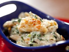 Food Network invites you to try this Spinach and Artichoke Baked Whole Grain Pasta recipe from Rachael Ray.