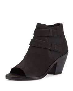 List Open-Toe Chelsea Boot, Black
