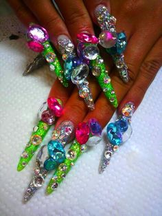 66 Best Crazy Extreme Nails Images On Pinterest Crazy Nails Cute