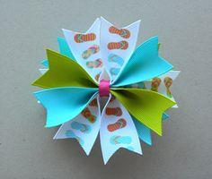 Summer Hair Bow 35 Medium Spike Bow Flip by simpledesign816