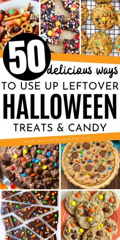 looking to use up your leftover Halloween candy? Here are 50 delicious ways to use up leftover Halloween candy that the whole family will love! halloween 50 Delicious Ways To Use Up Leftover Halloween Candy - This Tiny Blue House Halloween Drinks, Halloween Desserts, Holidays Halloween, Halloween Kids, Halloween Treats, Halloween House, Halloween 2019, Happy Halloween, Halloween Party