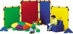 Children's Factory LLC Big Screen Rainbow PlayPanel Set at School Outfitters Preschool Furniture, Preschool Rooms, Preschool Ideas, Children Furniture, Daycare Ideas, Preschool Classroom, Teaching Ideas, Panel Divider, Rainbows
