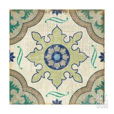 Santorini Tile I Giclee Print by Pela at Art.com