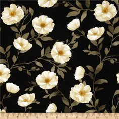 Designed by Cynthia Coulter and licensed to Wilmington Prints, this cotton print fabric is perfect for quilting, apparel and home decor accents. Colors include black, white, shades of brown, shades of grey, and shades of cream.
