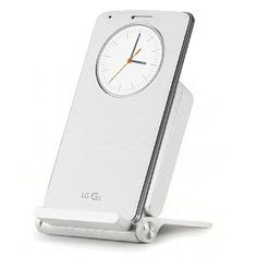 This official LG G3 Qi Wireless Charger Dock WCD-100 in white is an elegant and useful charging dock for Qi compatible smartphone supporting both landscape and portrait modes for hands-free viewing.