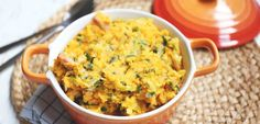 Zoete aardappelstamppot met prei - Lekker en Simpel Vegan, A Food, Macaroni And Cheese, Food To Make, Curry, Paleo, Brunch, Yummy Food, Healthy Recipes