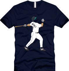 Edgar Martinez Seattle Mariners baseball by CoastalClothingCo on Etsy