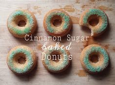 Green Velvet Baked Sprinkle Donuts | Donuts, Velvet and Baked Donuts
