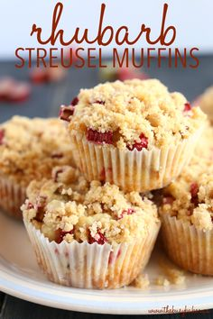 Sirtfood Diet Plan Discover Best Ever Rhubarb Streusel Muffins {Fresh Fruit Muffins!} - The Busy Baker Best Ever Rhubarb Streusel Muffins {Fresh Fruit Muffins!} - The Busy Baker Muffin Recipes, Baking Recipes, Cake Recipes, Dessert Recipes, Fruit Muffin Recipe, Rhubarb Cupcakes Recipe, Rhubarb Cookies, Strawberry Rhubarb Muffins, Rhubarb Scones