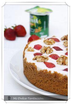 Mi dulce tentación: Tarta de Crema de Yoghourt y Fresas
