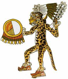 Guerrero Jaguar, en casi todas las civilizaciones posteriores a la Olmeca, los guerreros vestían traje que emulaban al jaguar o águila.