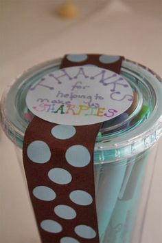 sharpie cup gift for the teachers