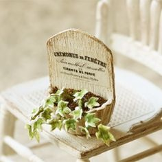 Created this french chic ivy plant in dollhouse miniature scale.