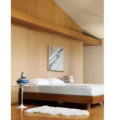Semplice Bed Platform Bed - for downstairs Platform Bedroom, Diy Platform Bed, Dining Room Walls, Living Room, Bed Design, Master Bedroom, Bedroom Ideas, Bedroom Remodeling, Natural Latex