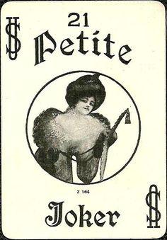 Society Joker for Petite #21, c1910 - Lot #78