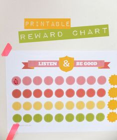 Listen and Be Good Printable Reward Chart mypoppet.com.au