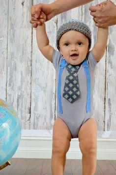 Baby Boy Birthday Gift Set Tie Onesie or Shirt & by shopantsypants, $34.00