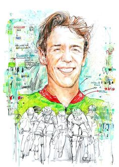 Rigoberto Uran by Horst Brozy Bicycle Art, Cycling Art, Cool Bikes, Bmx, Sketchbooks, Vintage Posters, Spin, Illustration Art, Artwork