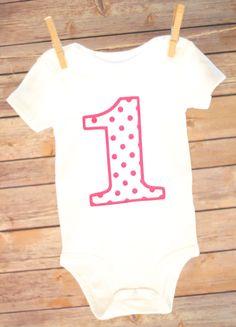 1st Birthday Shirts, Baby Girl Birthday, Polka Dot Birthday, Branded T Shirts, Shirts For Girls, Children, Kids, Polka Dots, Etsy