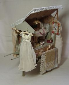 Cart created and sold as kit by emily art miniature belgium!!!!! Have to be stipulated please,