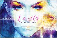 Lovely Watercolor Effect Actions by www.shutterpro.ro on @creativemarket