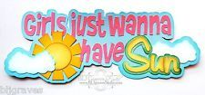 CraftEcafe Premade Paper Piecing Scrapbook Title Summer Sun Girl BLJgraves 45
