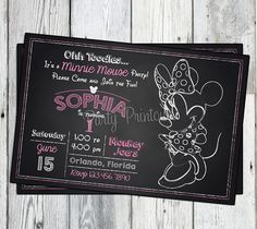 Listing is for one x 6 PRINTABLE Minnie Birthday Invitation. Perfect for your Minnie Mouse themed Birthday party. Minnie Birthday, Minnie Mouse Birthday Invitations, Printable Birthday Invitations, Minnie Mouse Party, Mouse Parties, 1st Birthday Parties, Party Invitations, 2nd Birthday, Birthday Ideas